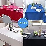 Chengtao Tischdecke Einweg, Tischdecke Plastik - 6er Pack, Garten Tischdecke Rechteckig Tischtuch Tischtuchtischdecke für draussen - 7