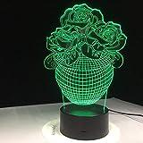 3D Nachtlicht Rose Blumenkorb 3D Lampe Berührungssensor USB LED Nachtlichter Liebe Led Tischlampe Baby Nachtlicht für Freunde