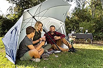 Sport-Brella Bella Premiere Parapluie de Jardin Multifonction pour Le Jardin, Facile à Plier, Bleu, Taille Unique