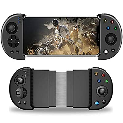 DELAM Mobile Game Controller, Bluetooth Phone Controller for Android/iPhone (Not for New iOS 13.4 System or Above), Wireless PUBG Mobile Controller Joystick Gamepad for MOBA & FPS Games by DELAM