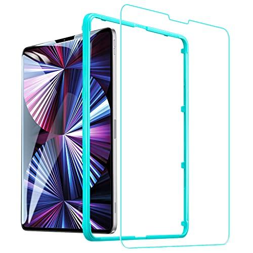 ESR Display schutzfolie kompatibel mit iPad Pro 11 2021/2020/2018 und iPad Air 4 2020, mit kratzresistenter HD Klarheit, Panzerglas mit Montagerahmen