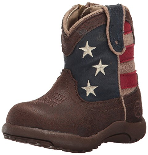 Roper Baby Girls American Patriot Western Boot, Brown, 2 Infant
