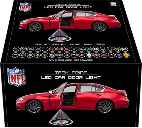 Sporticulture NFL Team Pride LED Car Door Laser Projector Light - 32 Teams in 1 Kit