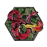 wangk Logotipo Pins Colección Twenty-Sided Die Mesa-Top Juego Insignia Mazmorra Maestro