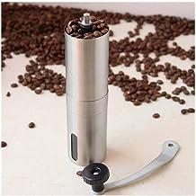 L.J.B.H Metal Coffee Grinder Mini Stainless Steel Manual Handmade Coffee Bean Burr Grinders Mill Kitchen Coffee Tool Crocu...