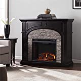 BOWERY HILL Electric Fireplace in Ebony and Gray