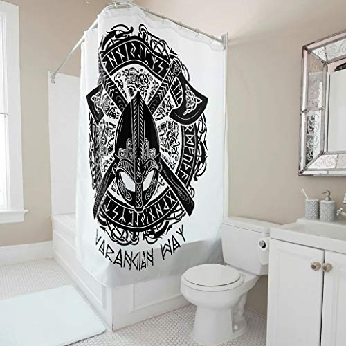 Viking Tattoo wasbaar gewaagd ontwerp met sluiting voor douche decor polyesterweefsel