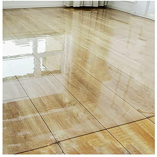 GUOTIAN Alfombrilla Transparente de PVC Alfombrilla para sillas de Oficina Antideslizante y Resistente al Desgaste Se Utiliza para parquet y baldosas de 1,0 mm (Transparente),1.0mm,90x150cm