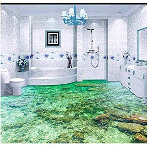 Yosot Tapete Custom Bodenbelag 3D Bodenbelag Malerei Schöne Meerwasser Ripple 3D Wohnzimmer Schlafzimmer Boden Malerei-200x200cm
