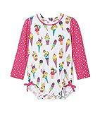 Hatley Rash Guard Swimsuits Traje de baño de una Pieza, Blanco (Cool Treats 100), 18 Meses para Bebés