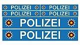 Finest Folia 6 pegatinas de policía para coche, barco, caravana, autobús, bicicleta o bicicleta, R023 azul