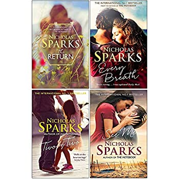 Nicholas Sparks Collection 4 Books Set  The Return [Hardcover] Every Breath Two by Two See Me