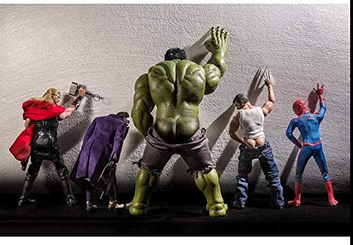 Fototapete Tapete 3D Tapetenwand Marvel Avengers Seamless Wandbild Net Cafe Bar Hintergrundbild Ktv Internet Cafe Hulk Spiderman Hintergrundbild-15mx105m