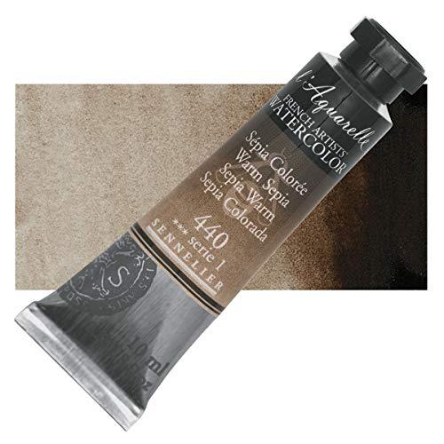 Sennelier l'Aquarelle Watercolor Tubes 10ml - Warm Sepia 10ml Tube