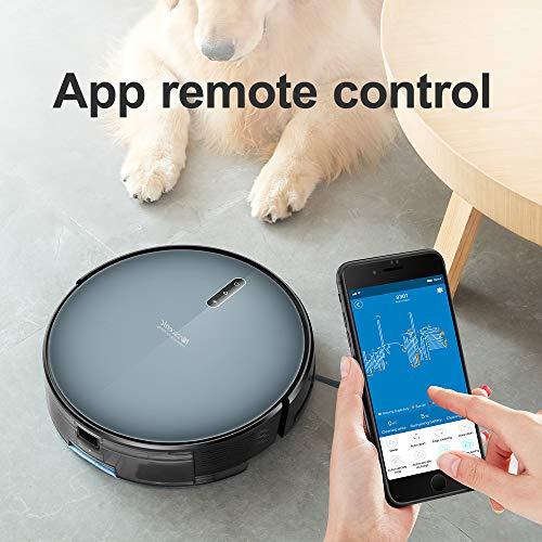 Proscenic Aspirateur Robot 830T, Connecté Wi-Fi et Alexa, Nettoyeur et Laveur 3 en 1, Nettoyage...