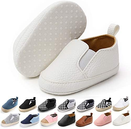 Meckior Infant Baby Girls Boys Canvas Shoes Soft Sole Toddler Slip On Crib Moccasins Casual product image