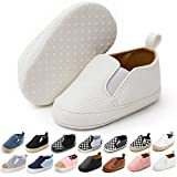Meckior Infant Baby Girls Boys Canvas Shoes Soft Sole Toddler Slip-On Crib Moccasins Casual Sneaker Austin Boy's Flat Lazy Loafers First Walkers Shoe