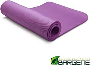 10mm Extra Thick NBR Yoga Mat Gym Pilates Fitness Exercise Balance Board Purple