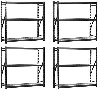 Sandusky Lee 7224PRBWWD3 Black Heavy Duty Steel Welded Storage Rack, 3 Shelves, 2,000 lb. capacity per shelf, 72