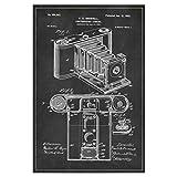 artboxONE Poster 30x20 cm Schwarzweiß Vintage Fotoapparat