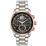 Bulova Classic Chronograph Mens Watch, Stainless Steel , Two-Tone (Model: 98B335)