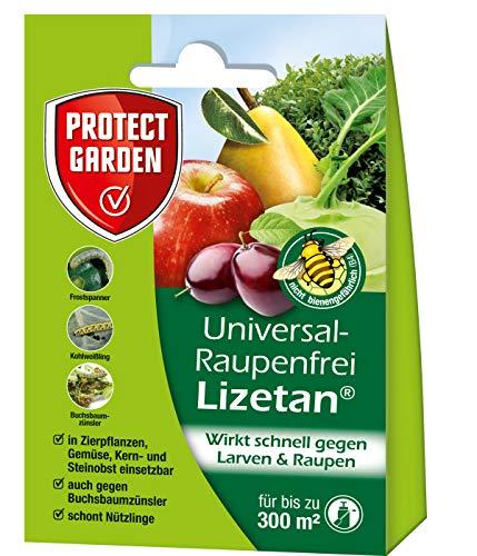 PROTECT GARDEN Lizetan Universal-Raupenfrei gegen Raupen wie Frostspanner und Kohlweißling an Zierpflanzen, Obst und Gemüse, mit Sofortwirkung, 9ml