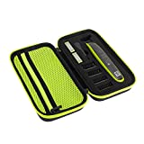 Custodia per Philips OneBlade QP2520, QP2530, QP2620, QP2630, Custodia rigida in EVA con spugna, Protettiva Cover Case per One Blade (Green)