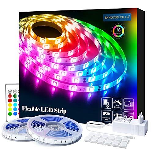 LED Strip 10m RGB LED Streifen Licht SMD 5050 Leds mit Netzteil, Fernbedienung Led stripes Lichtband Leiste Band Beleuchtung