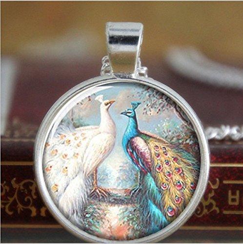 Collar de pavo real, una cola muy grande cubierta de manchas azules...