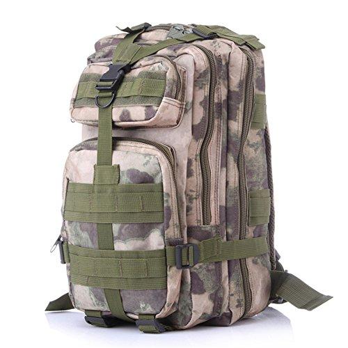 extérieur Camouflage Sac à dos Sport tactique Sac à dos camping randonnée Trekking Sac, Homme, camo2