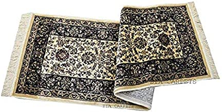 Faiz Carpets Persian Design Silk Touch Floor Bed Side Carpet & Gallery Carpet with 1 inchq Thickness 2 X 6 Feet (60x180 cm) Multi