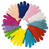 Best Exfoliating Gloves - 13 Pairs Double Sided Exfoliating Gloves Massage Dead Review