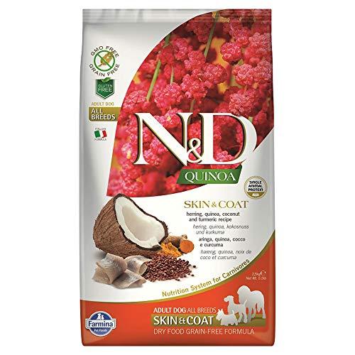 Linea Quinoa - Pienso para perro Aringa Quinoa, coco, cúrcuma, Farmina N&D, 2,5 kg
