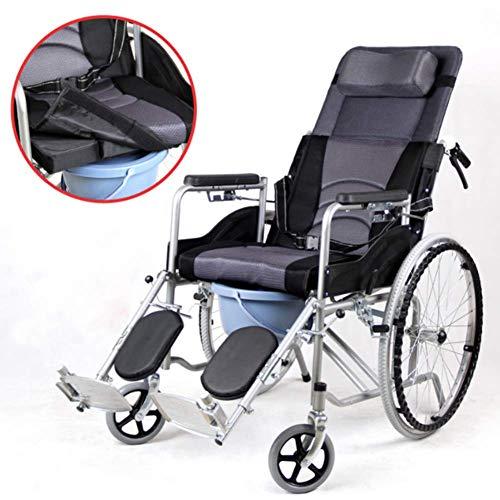 YEDENGPAO Leichter Rollstuhl,Faltrollstuhl mit Klapparmlehnen,manueller Rollstuhl, 12 Meilen Reichweite