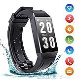 Montre Connectées Bracelet Trackers d'activité IP68 Etanche Sport Watch avec 140mAh Batterie Podomètre Fréquence Cardiaque...