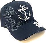 US Navy Anchor Naval Baseball Cap Hat (Black)