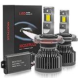 MOSTPLUS 12,000lm 100W 6000K LED Headlight Conversion Kit H4 (9003/HB2) Hi/Low Beams Xenon Bulbs 50W 6,000lm Per Bulb-Cool White 3570 Chip