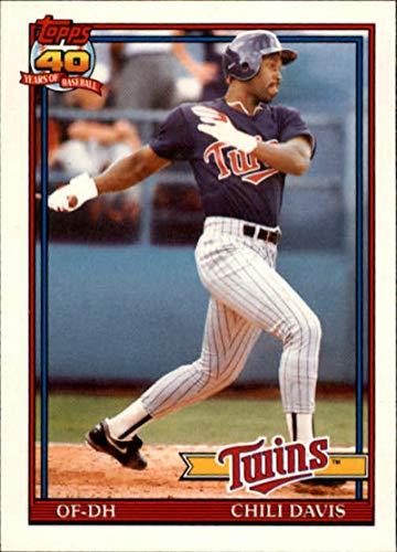 1991 Topps Traded #27T Chili Davis Minnesota Twins MLB Baseball Card NM-MT