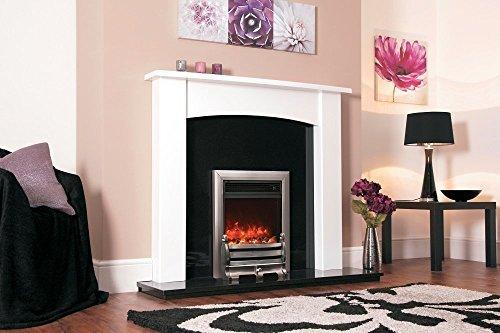 Designer Celsi Fire - Traditional Insert Daisy Satin Silver 16''