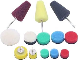 Kesoto 13 almofadas de polimento para carro com esponja de polimento Coloful