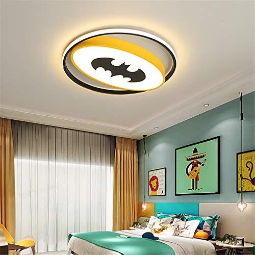 LHY LOFT LED Deckenlampe Kinderzimmer Comic Batman Kinder Deckenleuchte Ultra Thin Acryl Side Glow dekorative Beleuchtung für Wohnzimmer-Jungen-Mädchen-Raum Kindergarten,50cm 48w