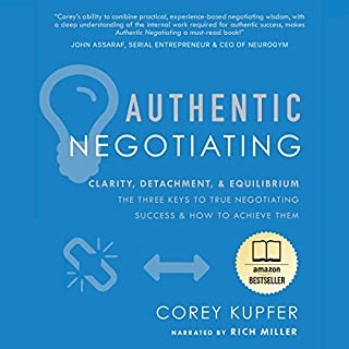 Authentic Negotiating audiobook cover art