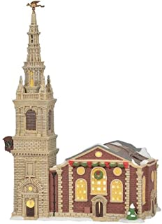 Department 56 Dickens' Village Church of St. Mary-le-Bow, 13.25-Inch High