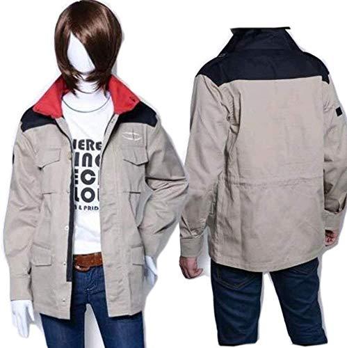 wr_mch コスプレ衣装 機動戦士ガンダム 風、地球連邦軍 ジャケット cosplay (男性, L)
