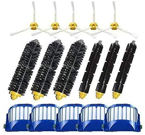 Recambios para aspiradoras 3 cepillos laterales armados para IRobot Roomba 500 600 Series 550 595 610 620 630 650 670 Robot Aspirador Accesorios (Color: Hcy 1035) (color : Hcy 6001)