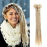 20 inch 100% Handmade Dreadlocks Extensions Fashion Reggae Hair Hip-Hop Style Soft faux locs Crochet Braiding Hair For Women/Men (20Inch 10Pcs, Deep Blonde)