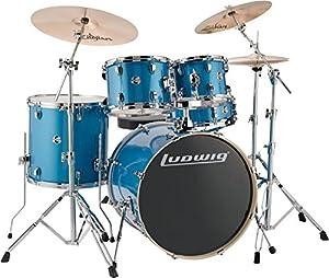 Ludwig Element Evolution 5-Piece Drum Set Blue Sparkle