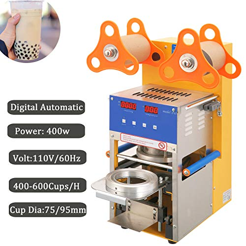 Cup Sealing Machine For Bubble Tea Automatic Plastic Cup Sealer 400-600Cups/hr Electric 400w (Automatic)
