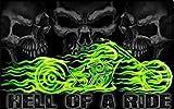U24 Fahne Flagge Hell for a Ride Pirat Motorrad Harley 90 x 150 cm