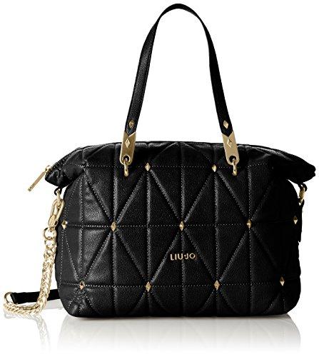 Liu Jo BOSTON BAG N66054E0058 Damen Bowlingtaschen 31x23x17 cm (B x H x T), Schwarz (Black 22222)